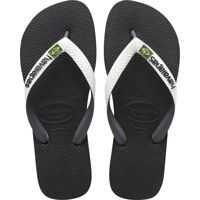 Slapi Brasil Mix Unisex Flip Flops In Black White Barbati