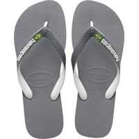 Slapi Brasil Mix Unisex Flip Flops In Grey White Barbati