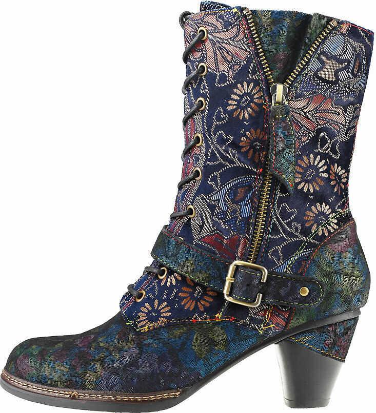 Laura Vita Alizee 118 Boots In Blue Multicolour Blue