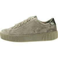 Adidasi cu platforma Low Top Velvet Sneaker Trainers In Dark Grey Femei