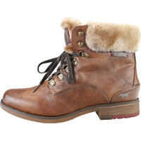 Botine Lace Up Warm Lining Ankle Boots In Chestnut Femei