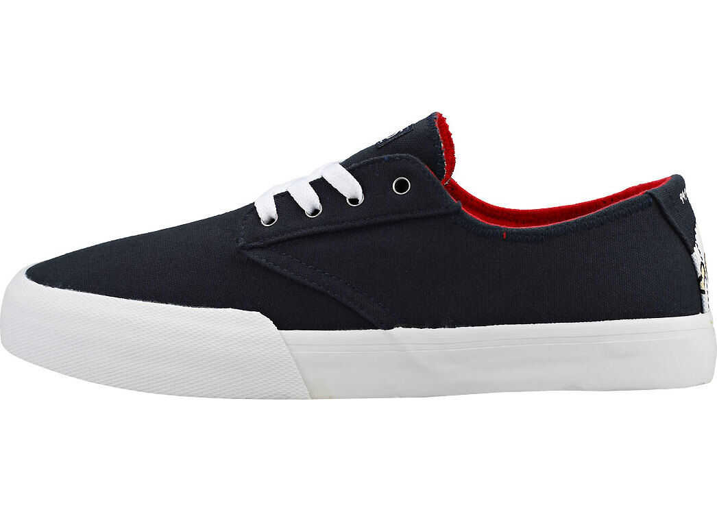 etnies Jameson Vulc Ls X Sheep Trainers In Navy Blue