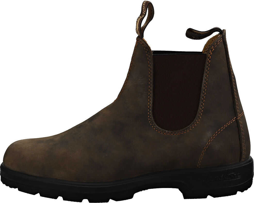 Blundstone 585 Chelsea Boots In Rustic Brown Brown