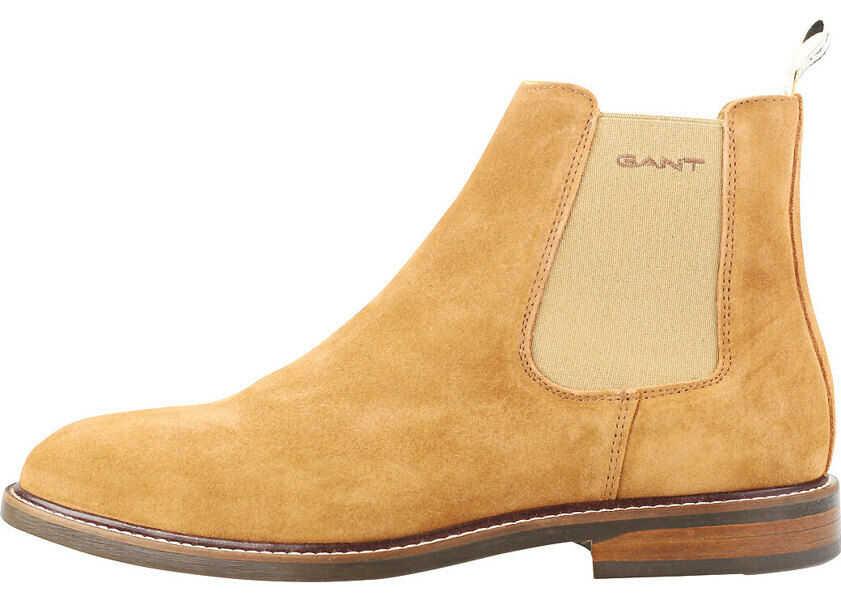 Ghete Barbati GANT Ricardo G45 Chelsea Boots In Cognac