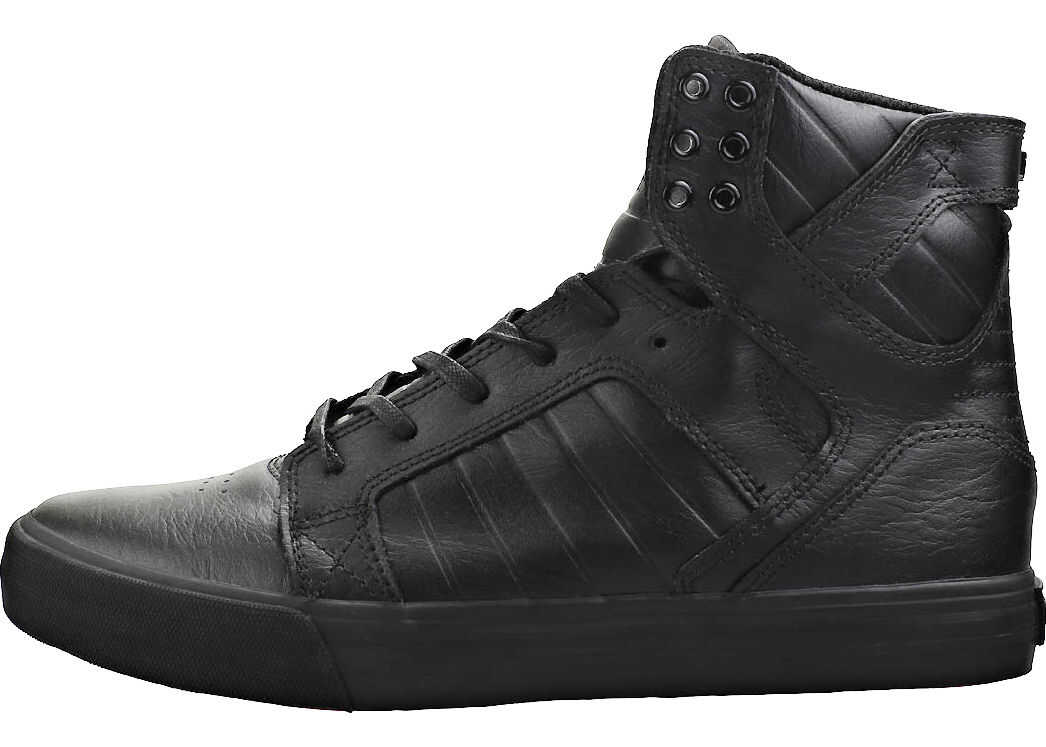 Supra Skytop Trainers In Black Black