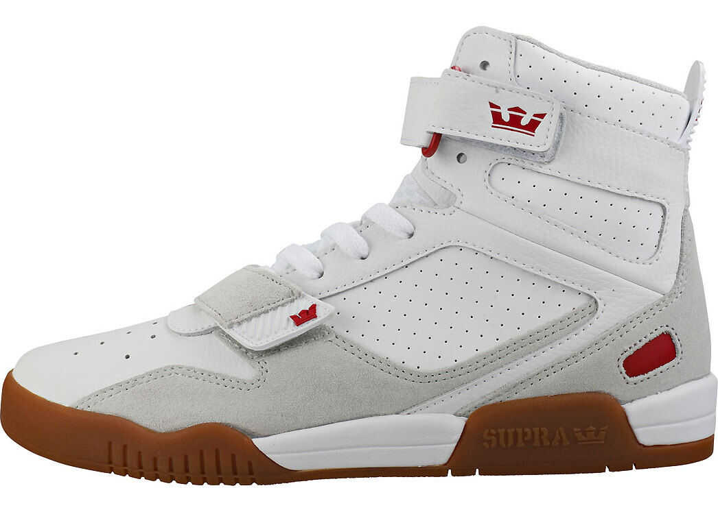 Supra Breaker Trainers In White Gum White