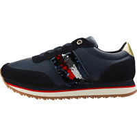 Sneakers Sequins Retro Trainers In Midnight Navy Femei