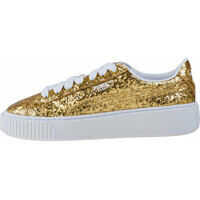 Tenisi & Adidasi Basket Platform Glitter Trainers In Gold* Femei