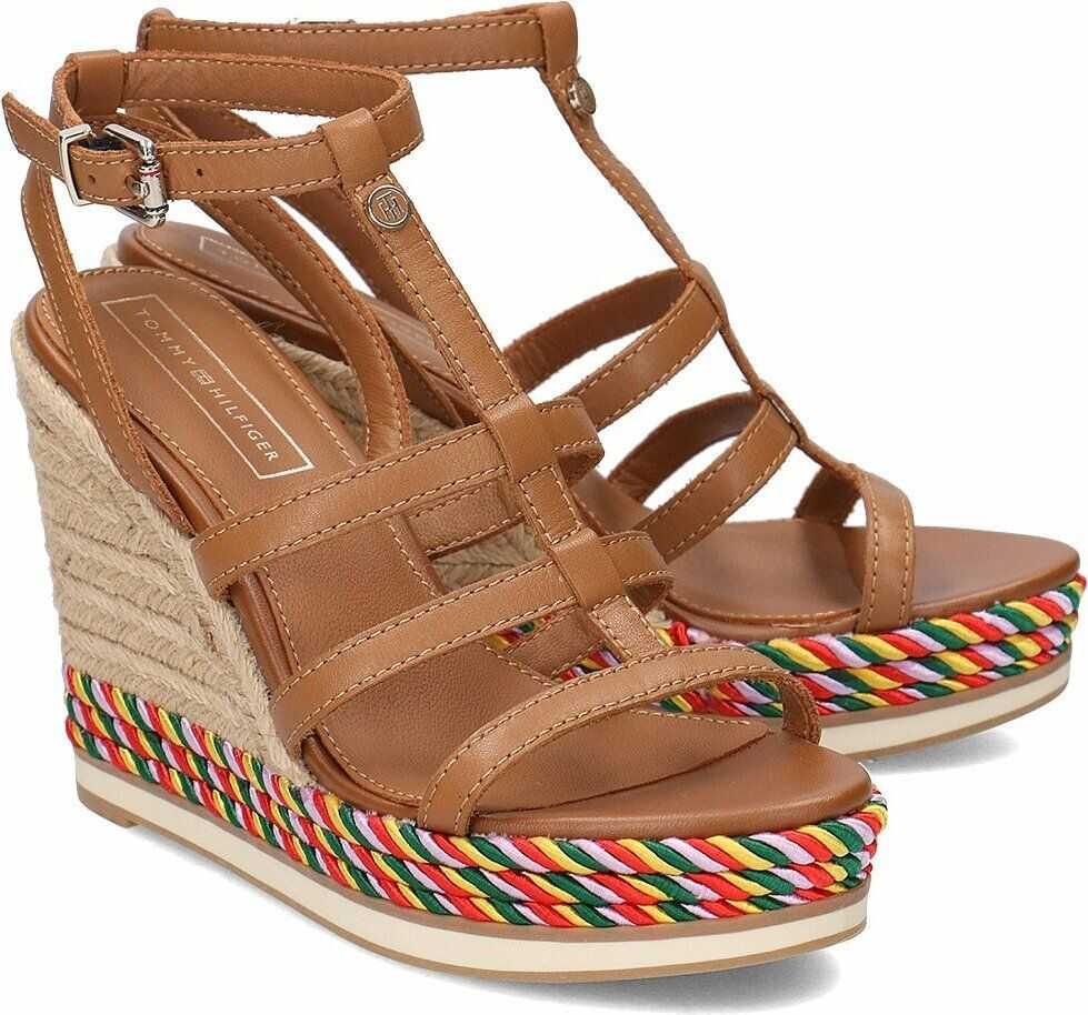 Tommy Hilfiger Colorful Rope Wedge Brązowy