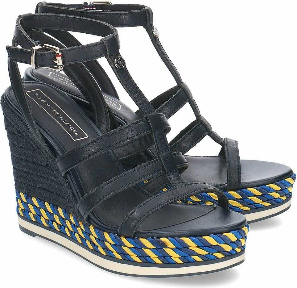 Tommy Hilfiger Colorful Rope Wedge Granatowy