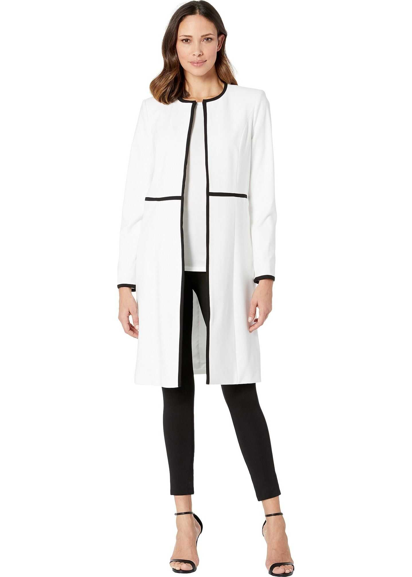 Calvin Klein Lux Long Piped Topper White/Black