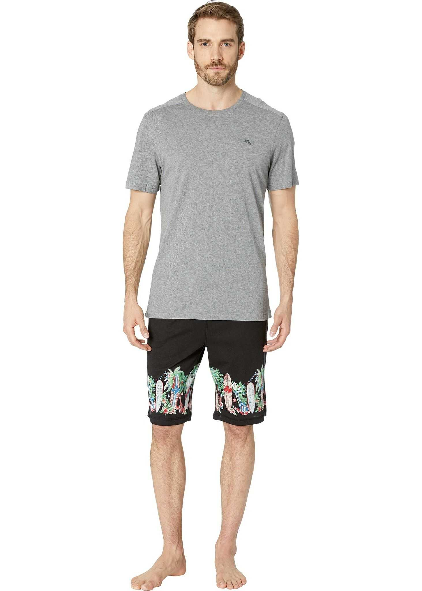 Tommy Bahama Jam Shorts with Screen Print Black/Screen