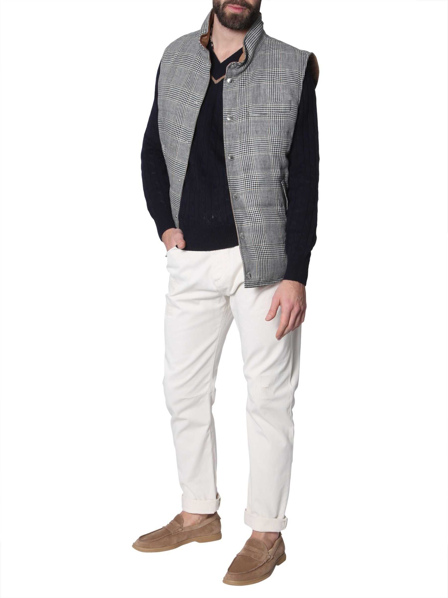Brunello Cucinelli Down Sleeveless Vest Jacket GREY