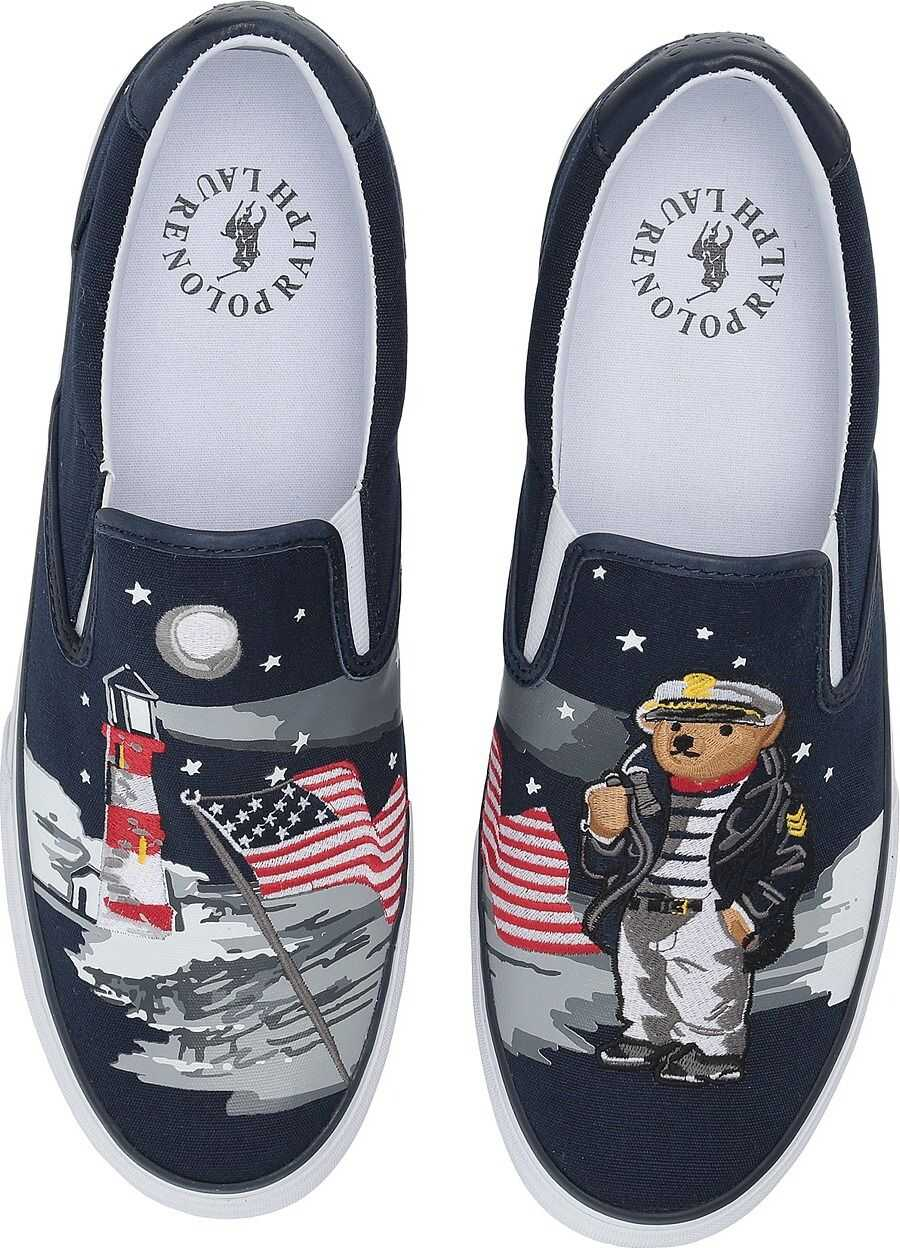 Ralph Lauren Thompson P Navy Multi Bear Lengths Canvas II