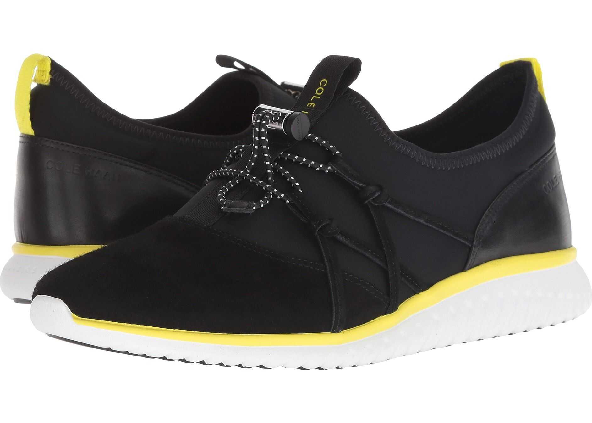 Cole Haan Studiogrand Freedom Sneaker Black Lycra/Suede
