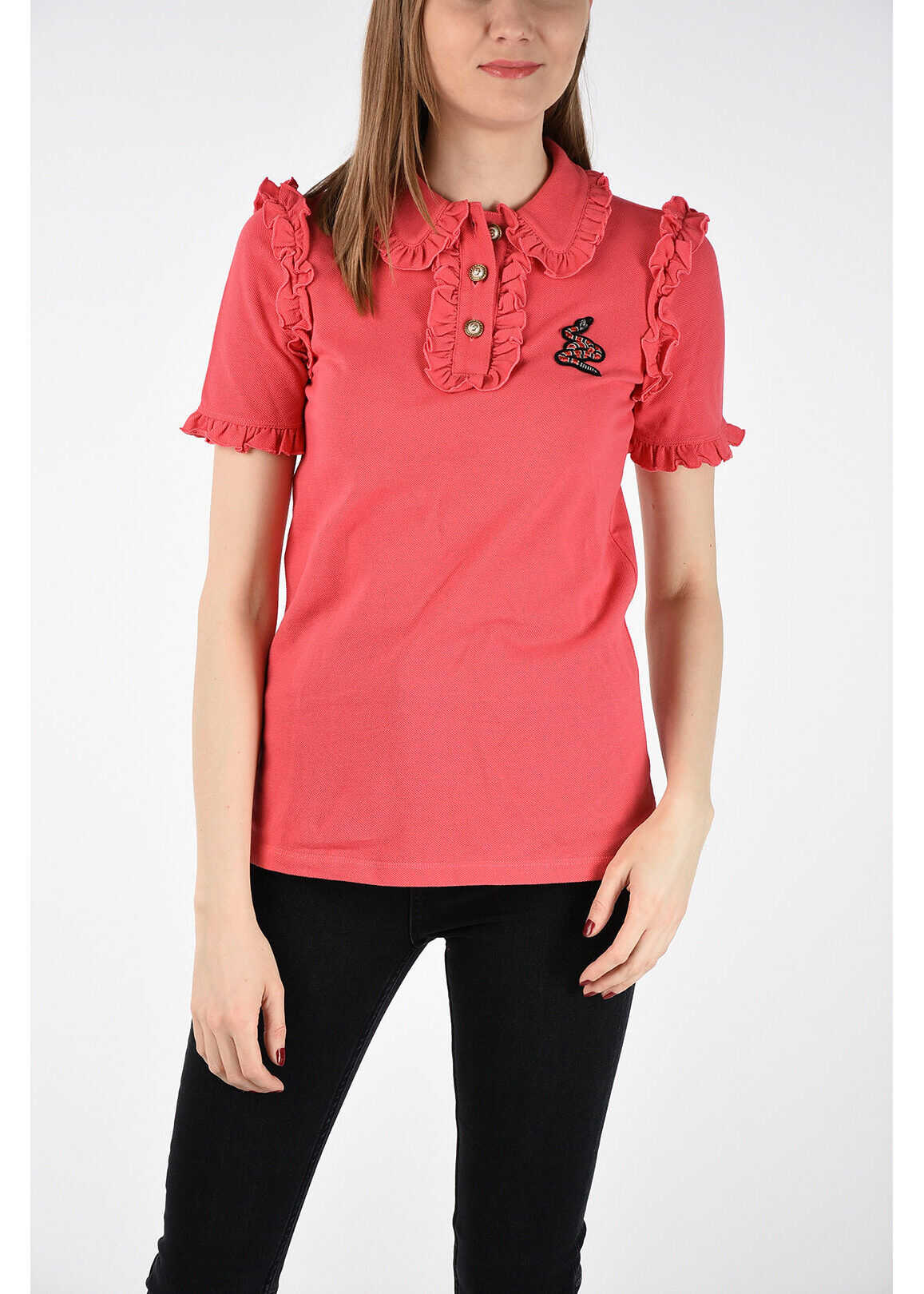 Gucci Frilled Polo PINK