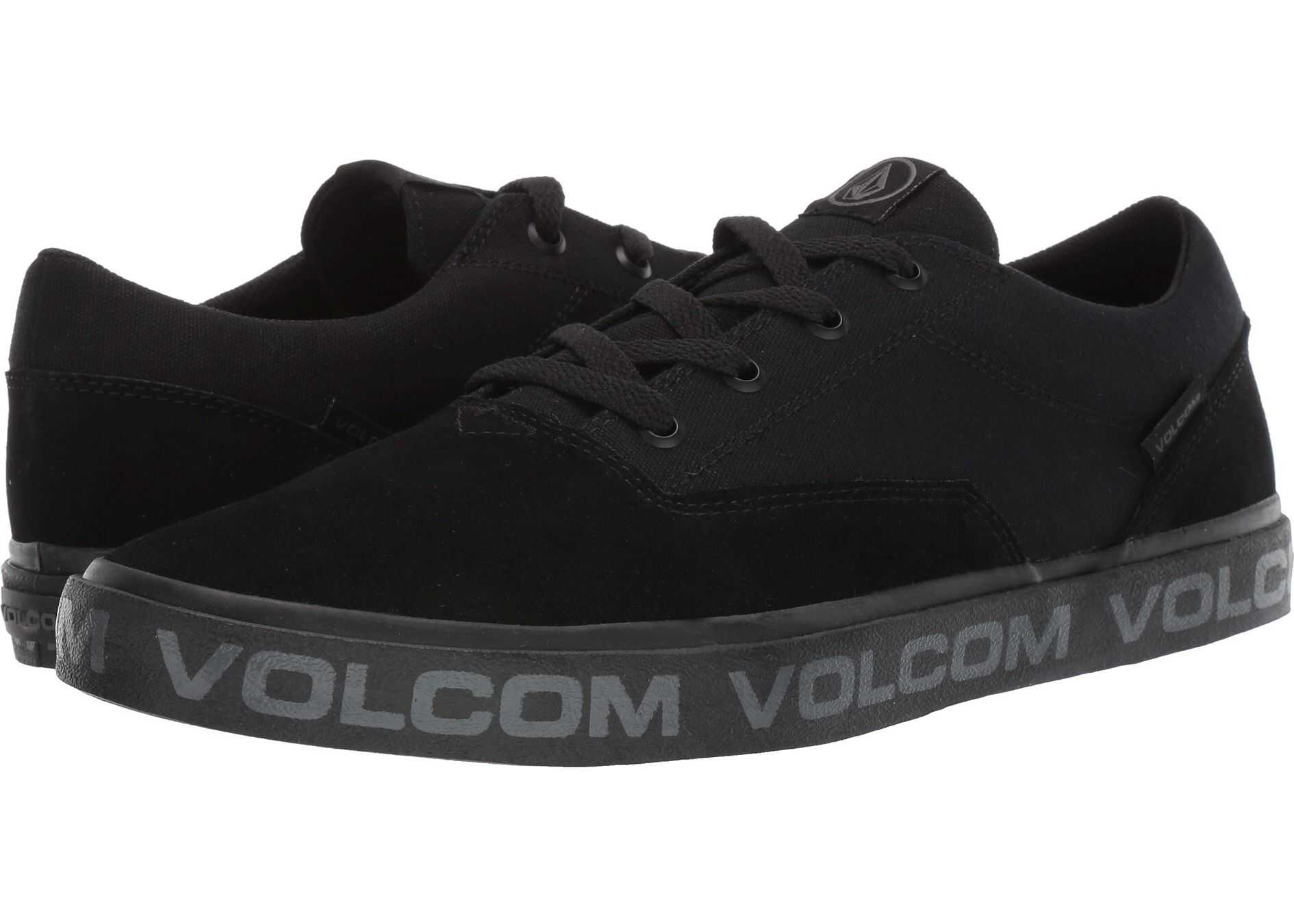Volcom Draw Lo Suede Shoes Blackity Black