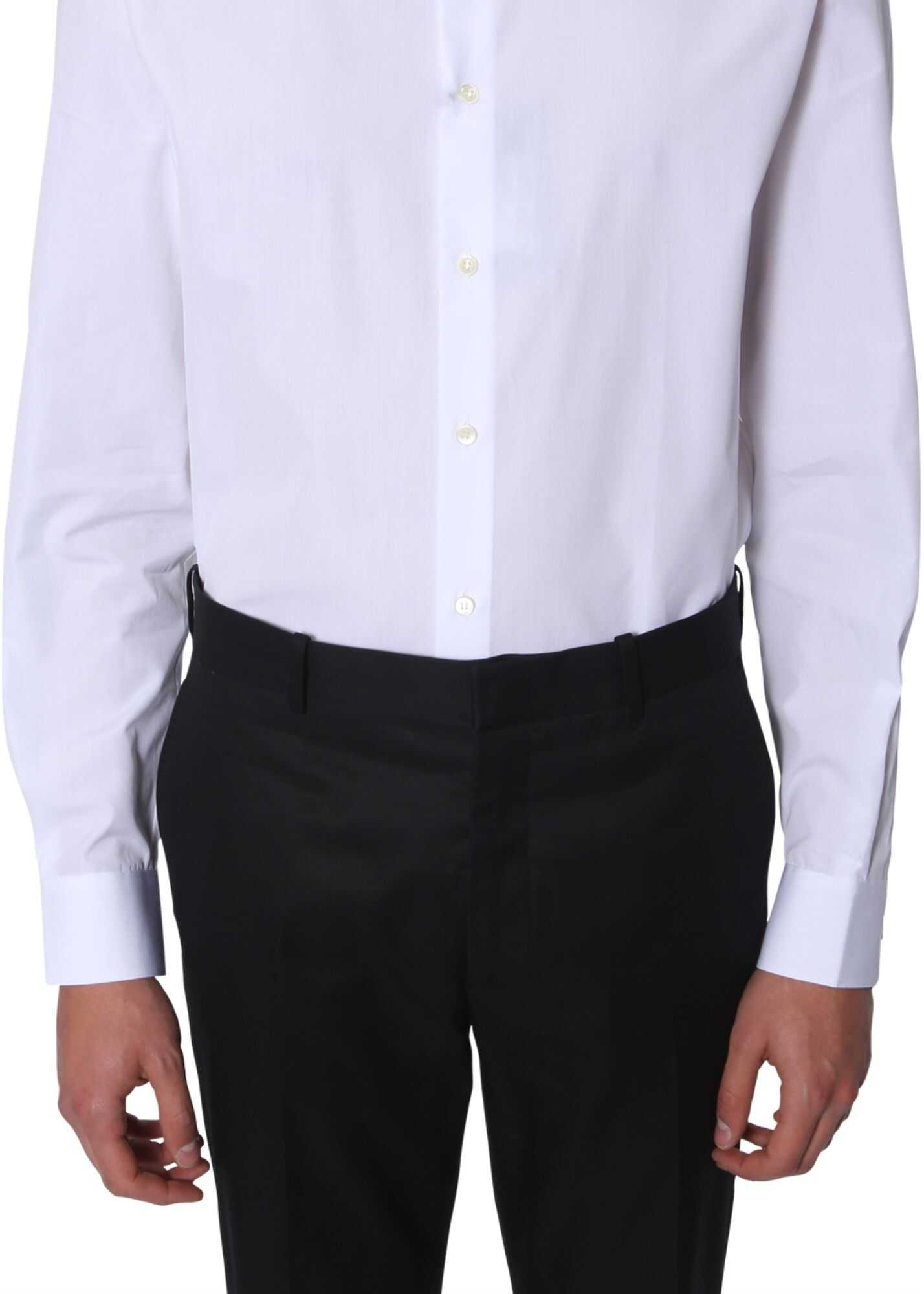 Saint Laurent Shirt With Yves Collar WHITE