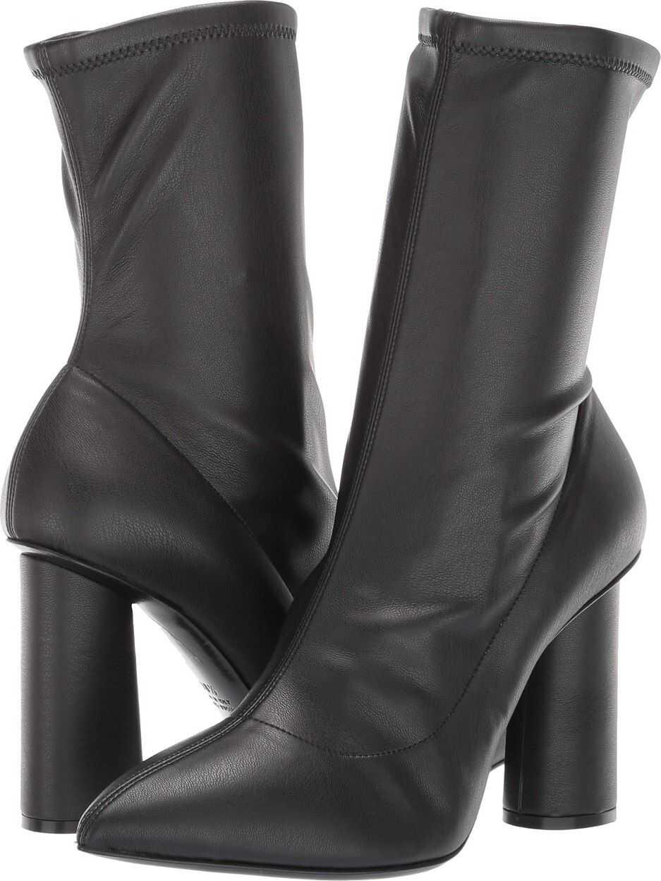 Emporio Armani Stretch Eco-Leather Boot Black