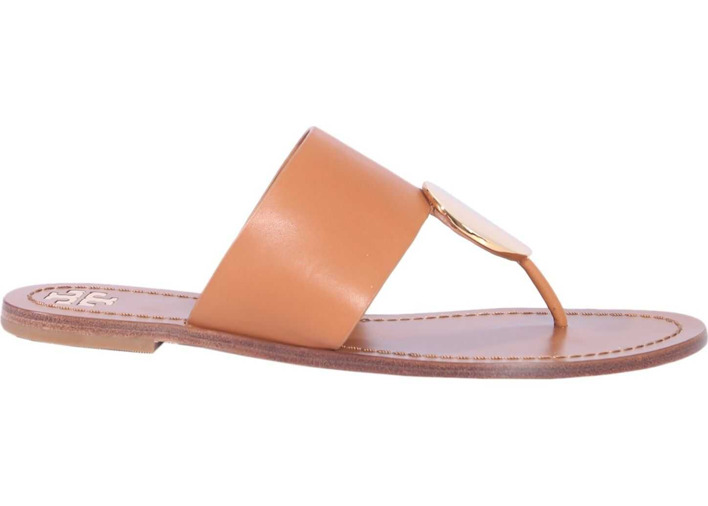 Tory Burch Pathos Disk Sandals BROWN