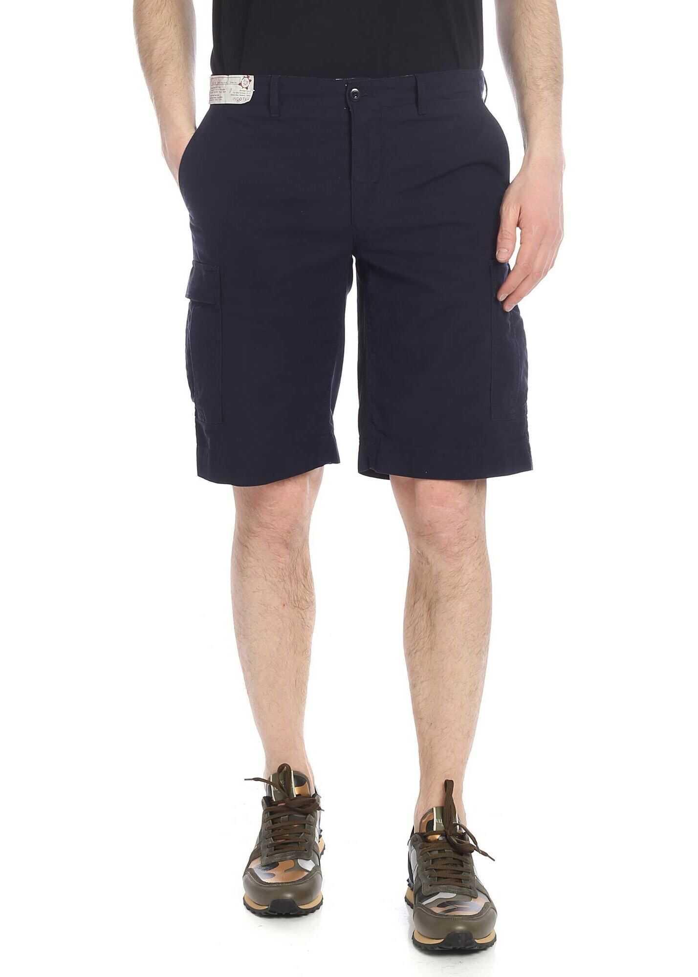 Blue Incotex Shorts With Logo