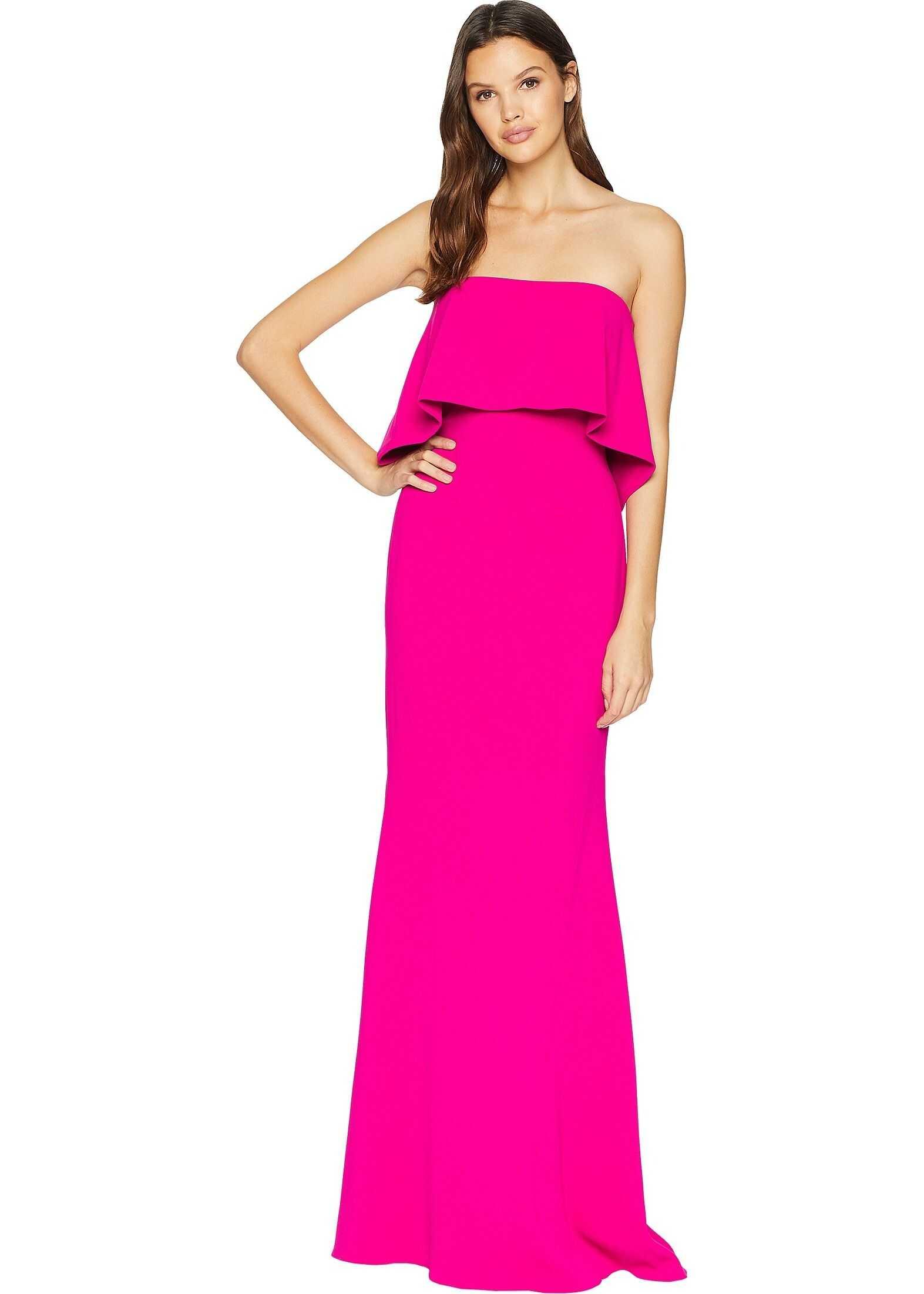 Badgley Mischka Popover Gown Deep Magenta