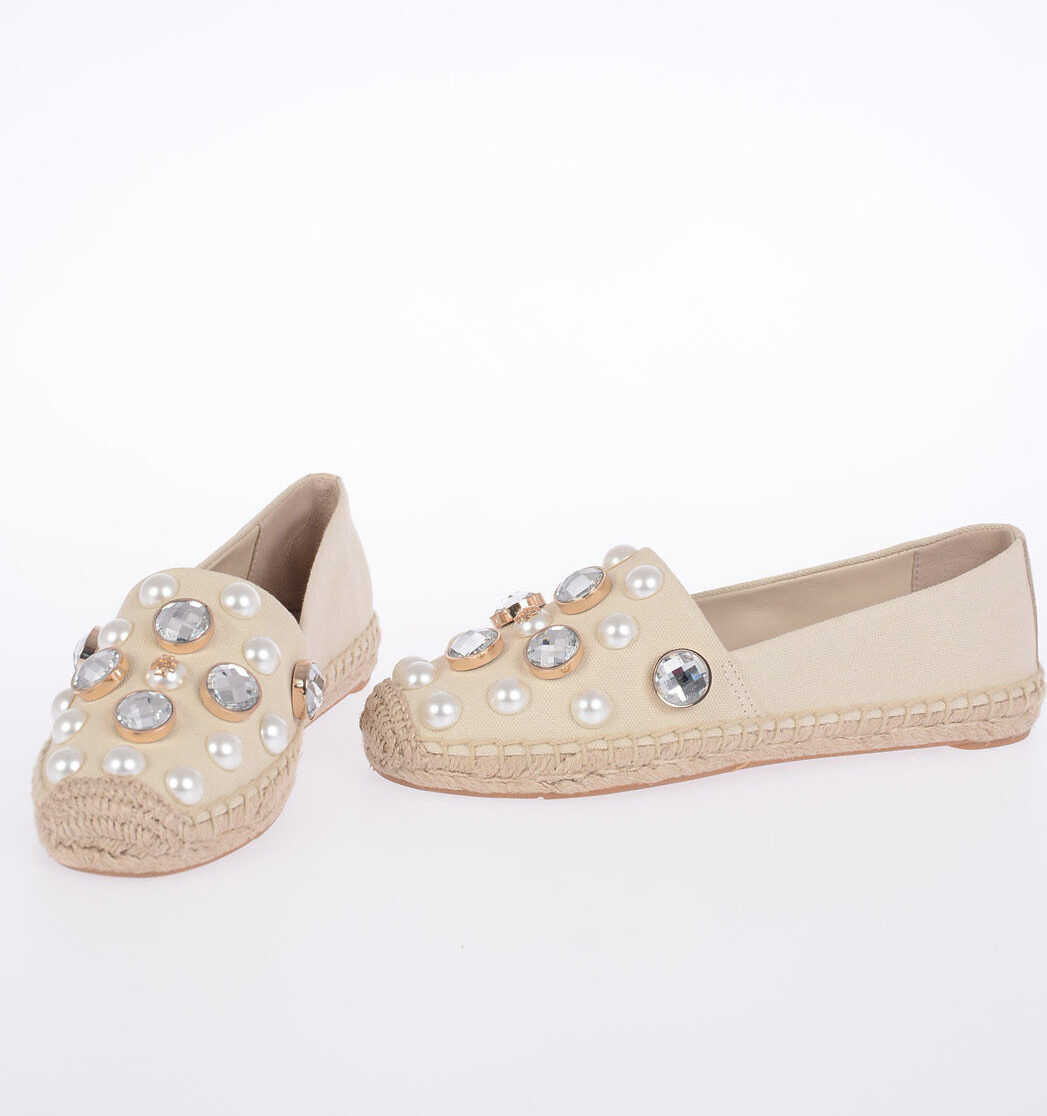 Tory Burch Canvas VAIL Espadrillas with Jewel Details N/A