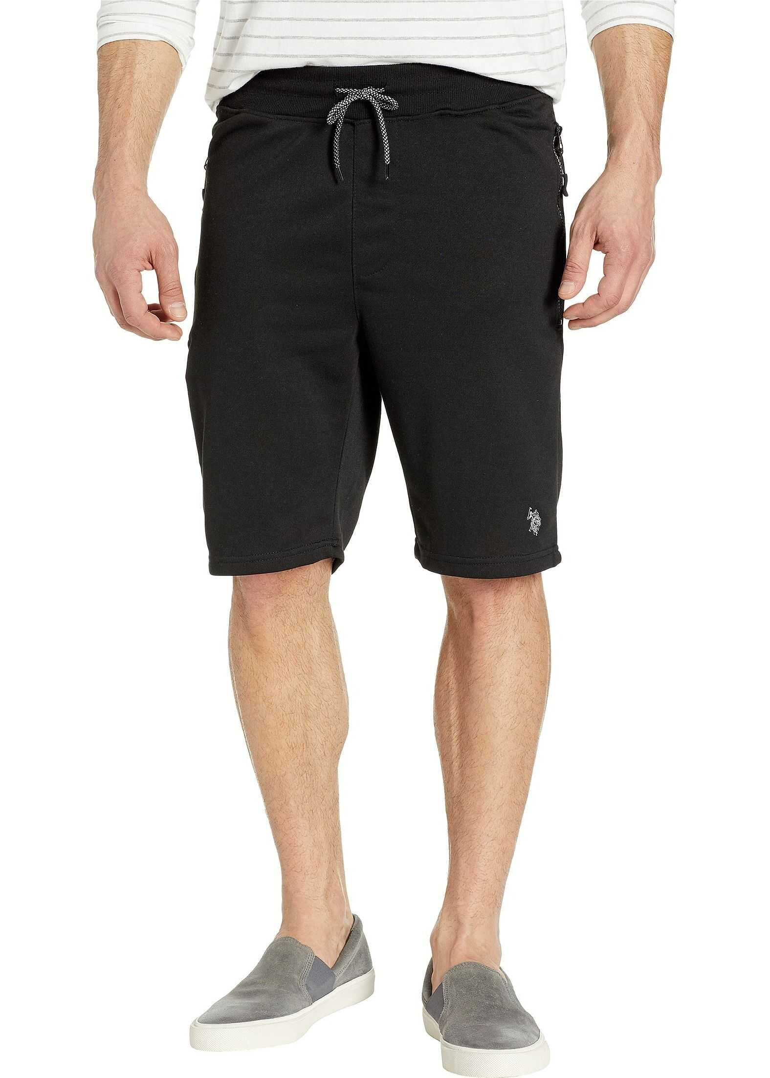 U.S. POLO ASSN. Shorts with Zip Pockets Black