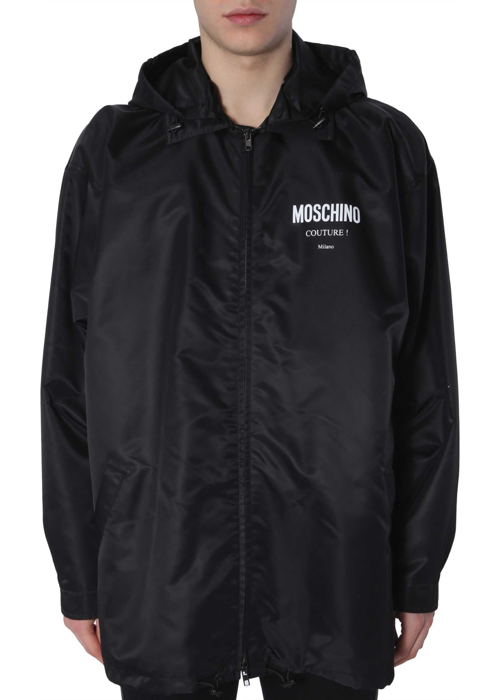 Moschino Hooded Jacket BLACK