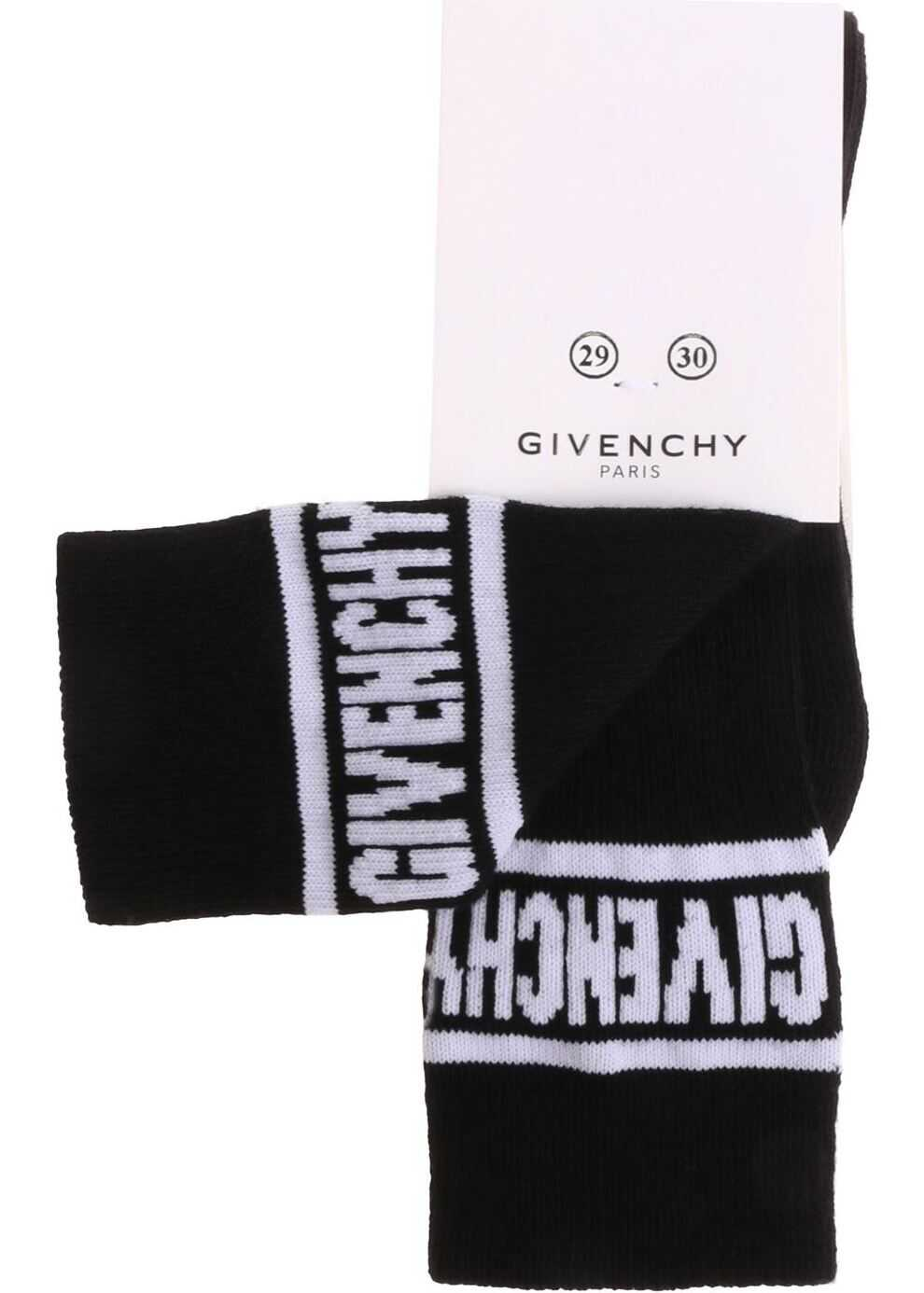 Givenchy Black Socks With White Logo Embroidery Black