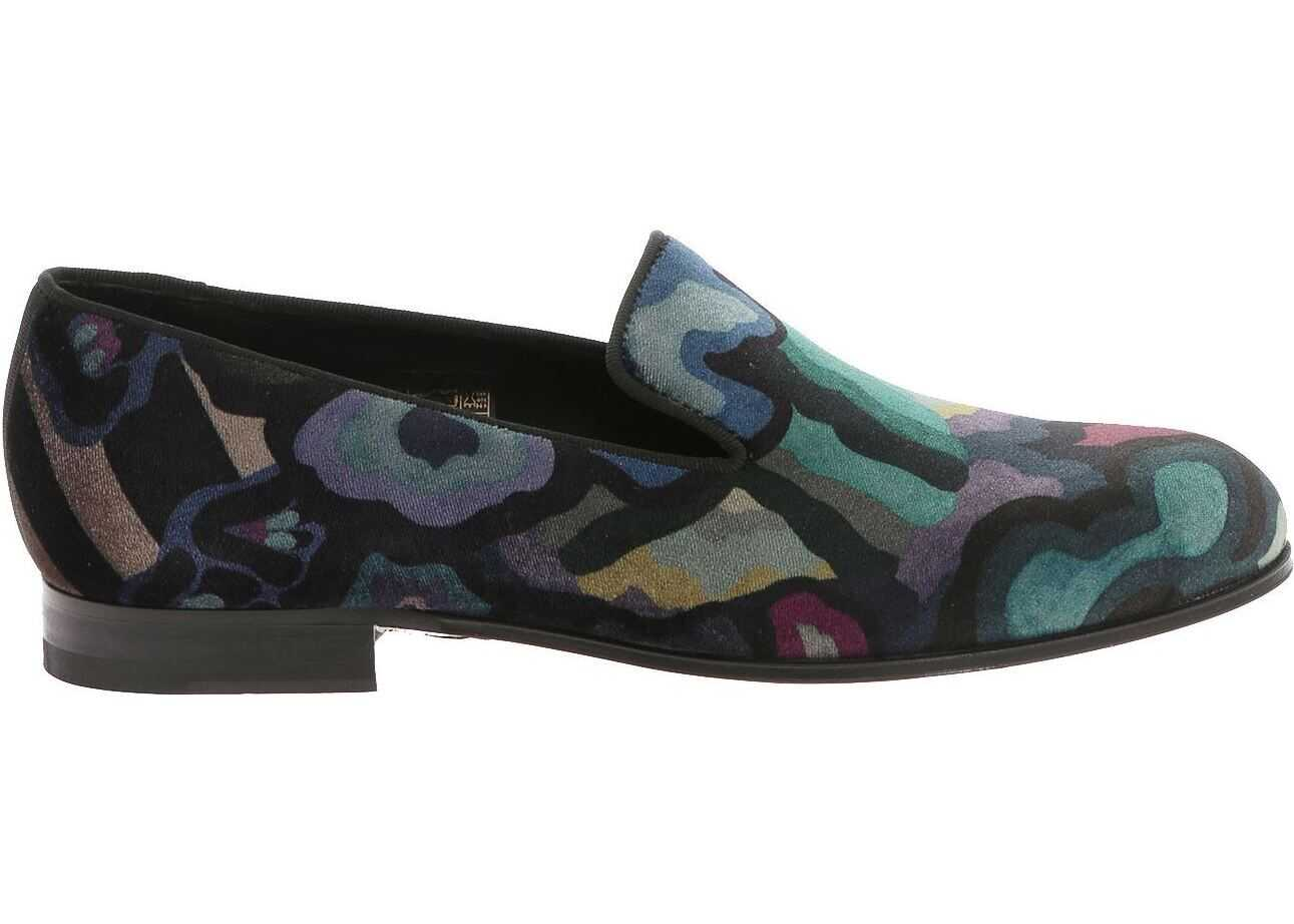 Paul Smith Slippers With Multicolor Camouflage Print Multi