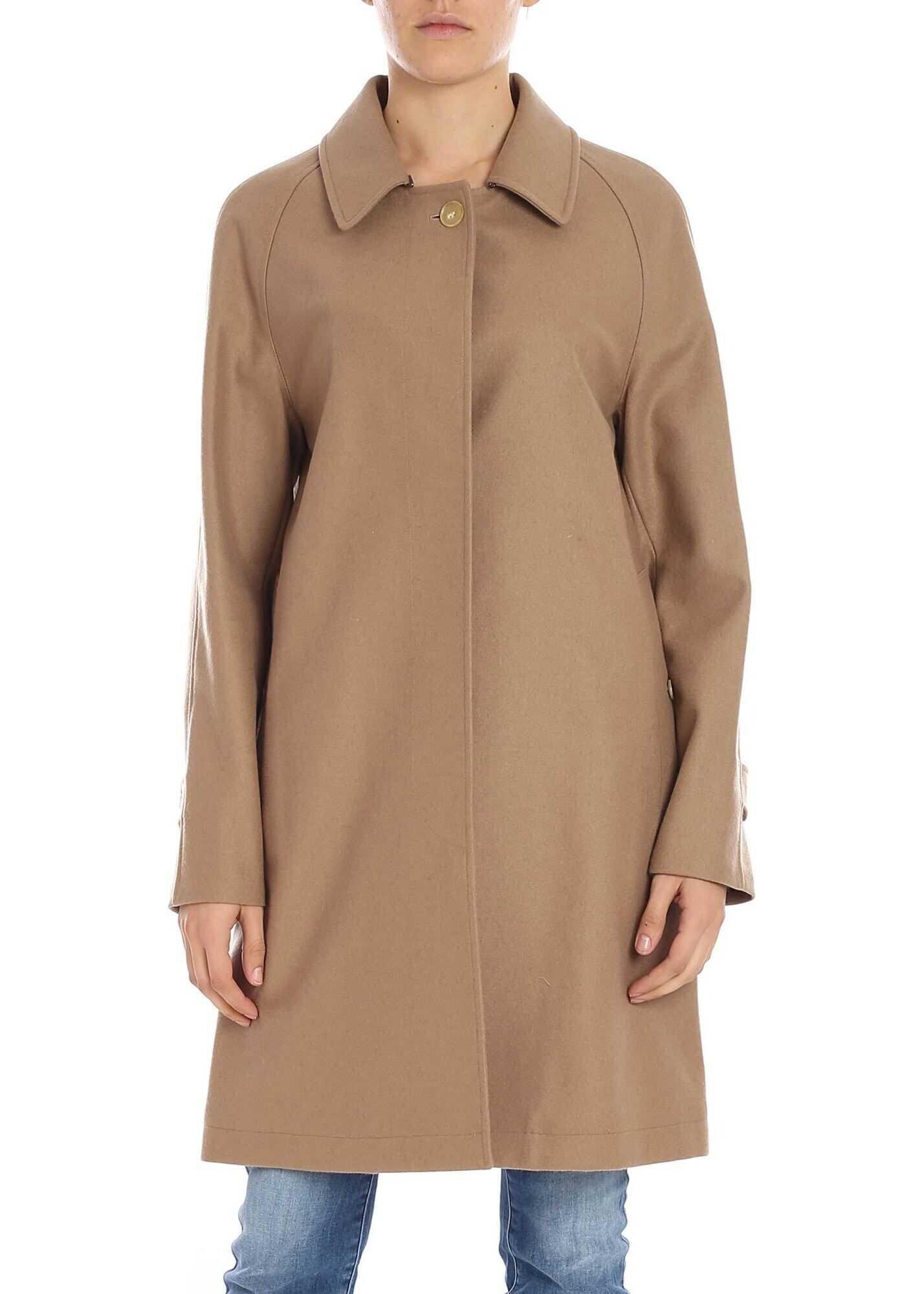 """Camden"" Camel-Color Cashmere Coat"