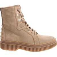 Incaltaminte Beige Ankle Boots With Laces Femei