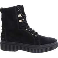 Incaltaminte Black Ankle Boots With Laces Femei