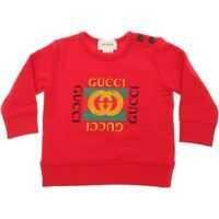 Bluze Red Crew-Neck Sweatshirt With Logo Baieti