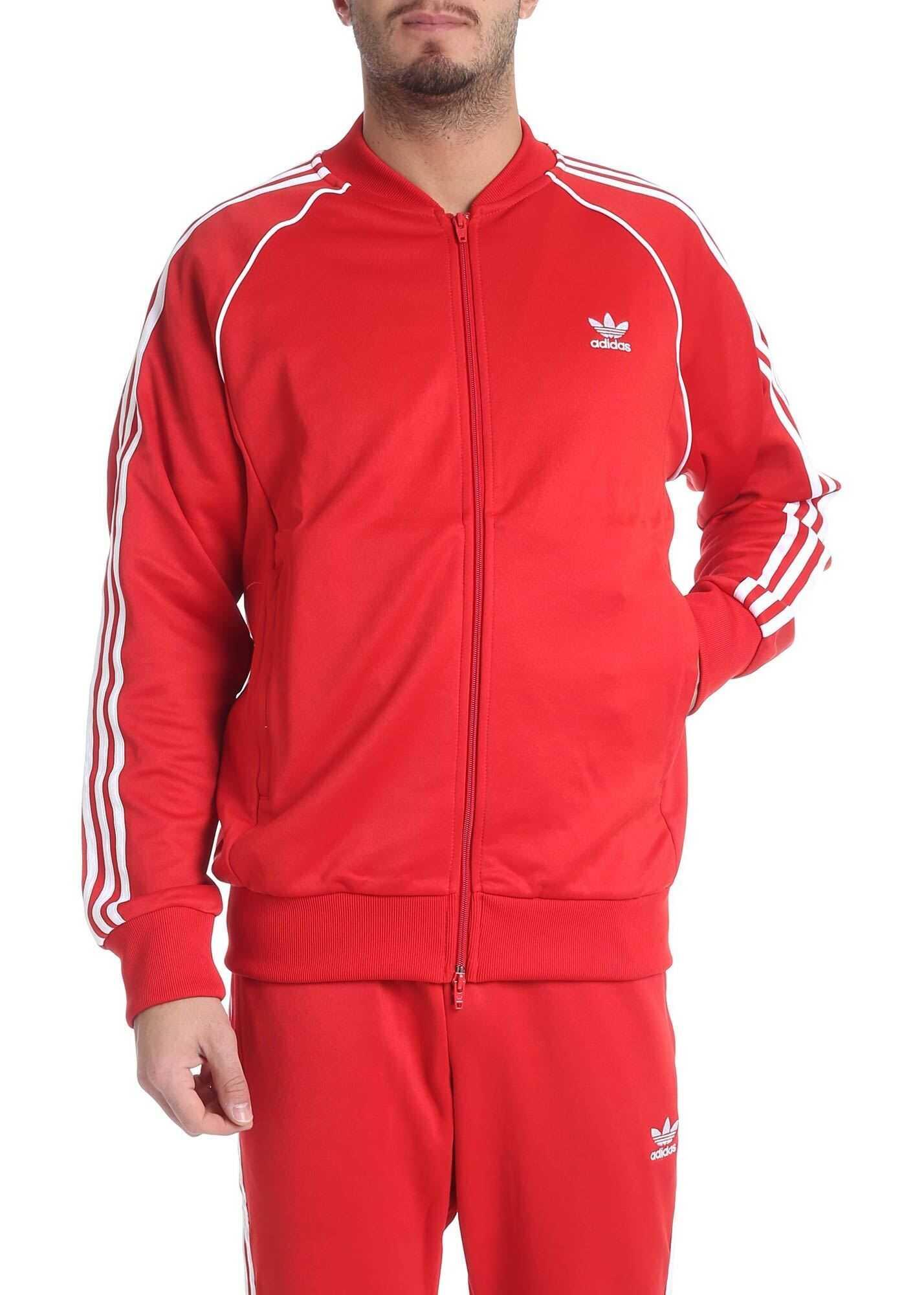 adidas Adidas Originals Sst Track Sweatshirt In Red Red