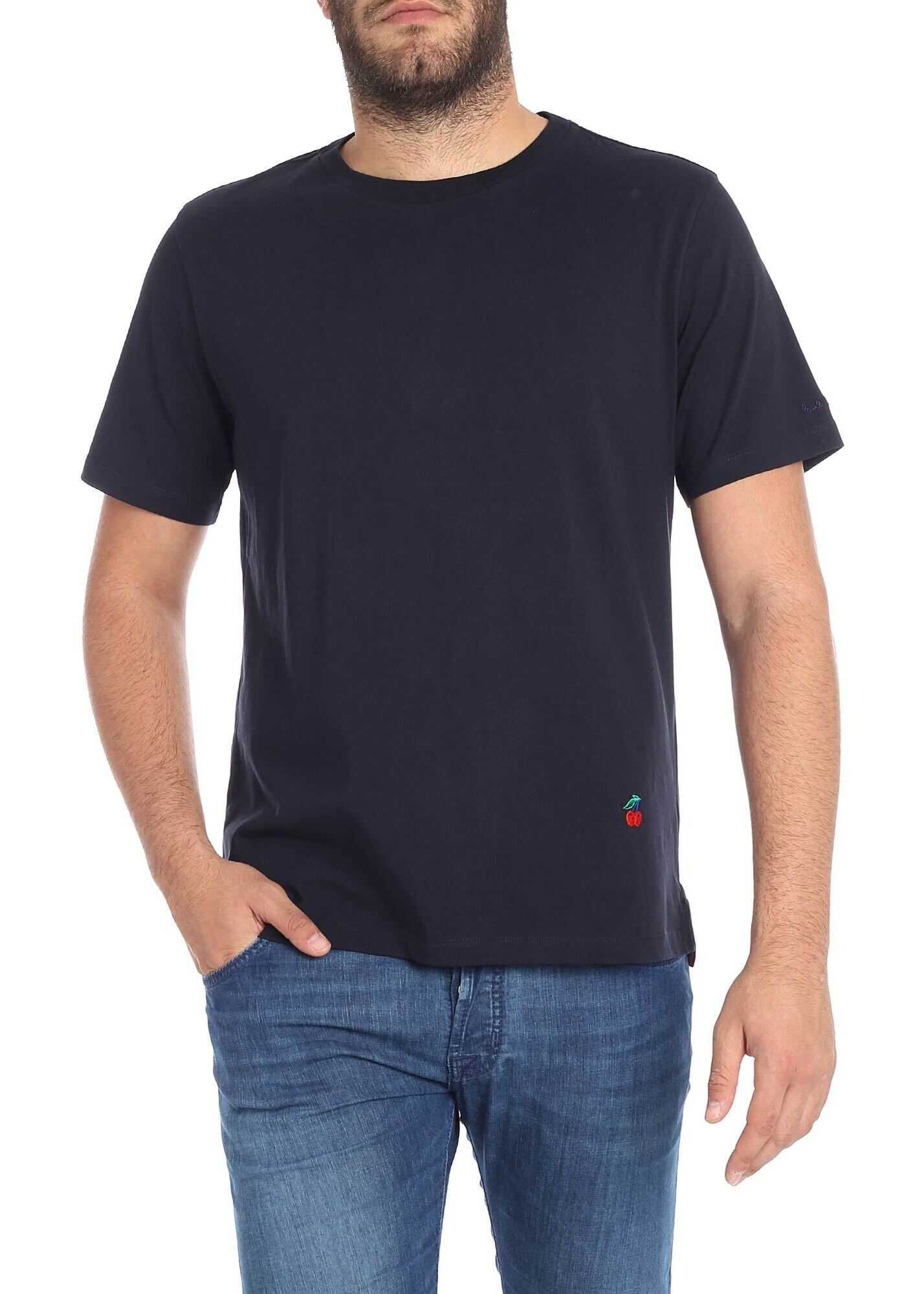 Blue T-Shirt With Embroidered Logo