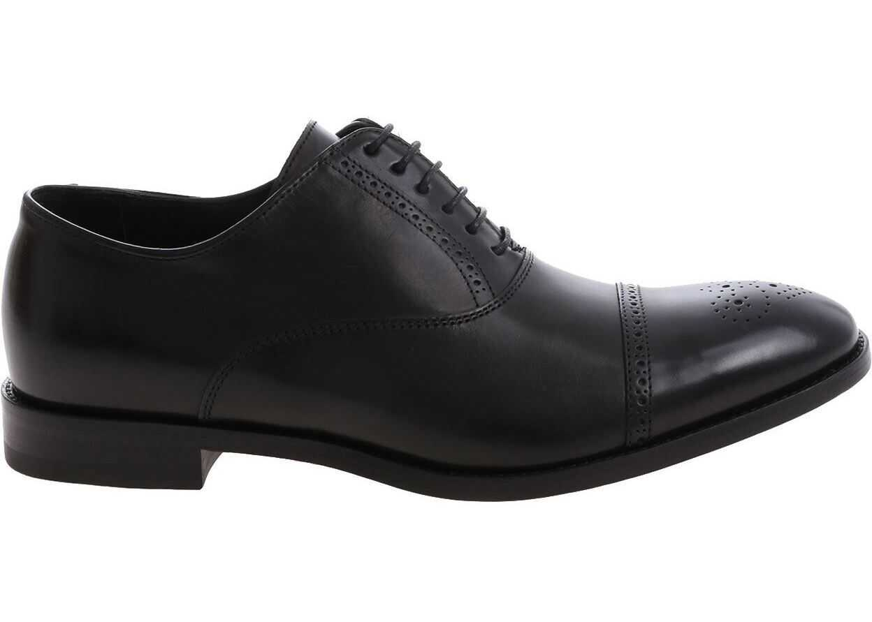 Paul Smith Black Leather Oxford Shoes Black