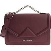 "Genti tip postas Karl Lagerfeld Wine-Color ""K/Klassik"" Cross-Body Bag"