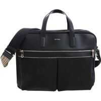Genti de laptop & serviete Black Cross-Body Bag With Logo Barbati