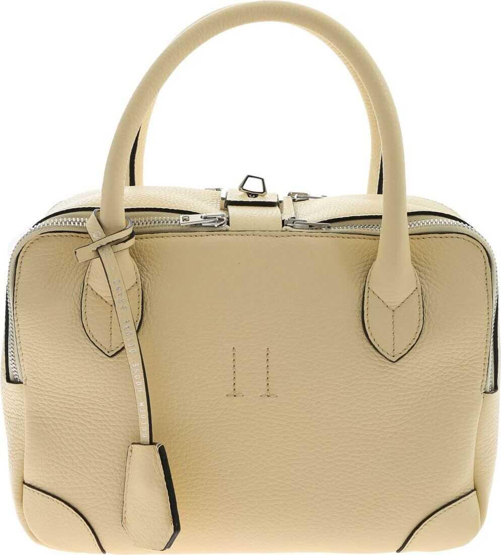 Golden Goose Equipage Nano Handbag With Charm Cream