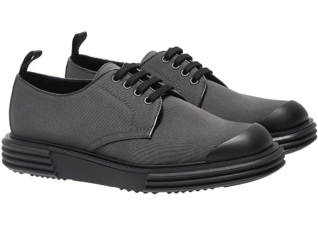 Prada Prada Dark Grey Fabric Shoes 2EE286 GUD F0170 Grey imagine b-mall.ro