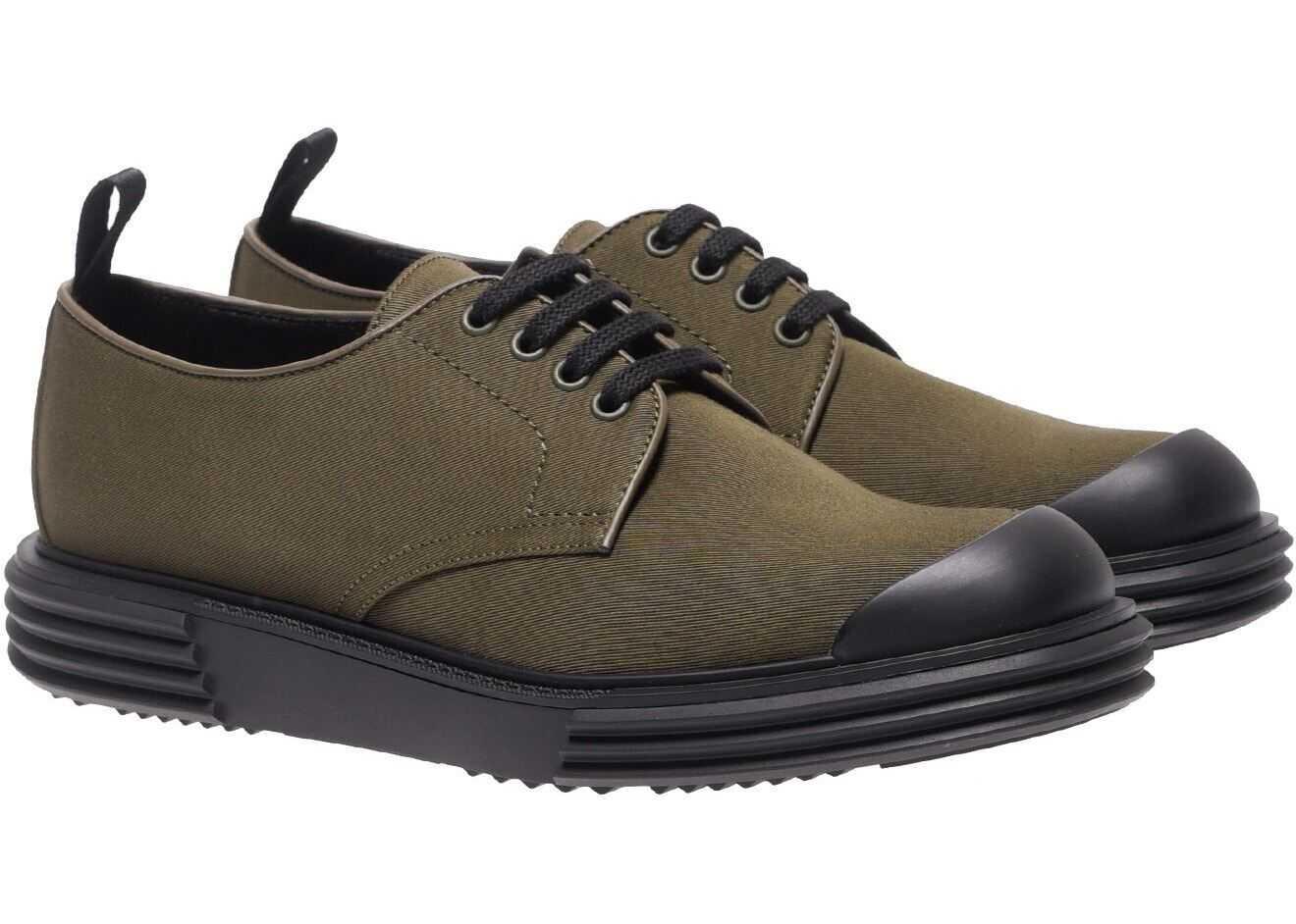 Prada Prada Army Green Fabric Shoes 2EE286 GUD F0161 Green imagine b-mall.ro