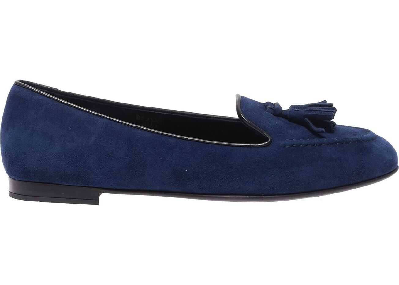 Church`s Church`s Blue Suede Moccasins Blue