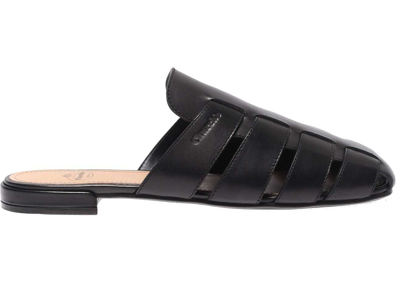 Church`s Flat Sandals In Black Black
