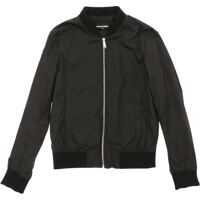 Jachete Black Bomber Jacket With Logo Baieti