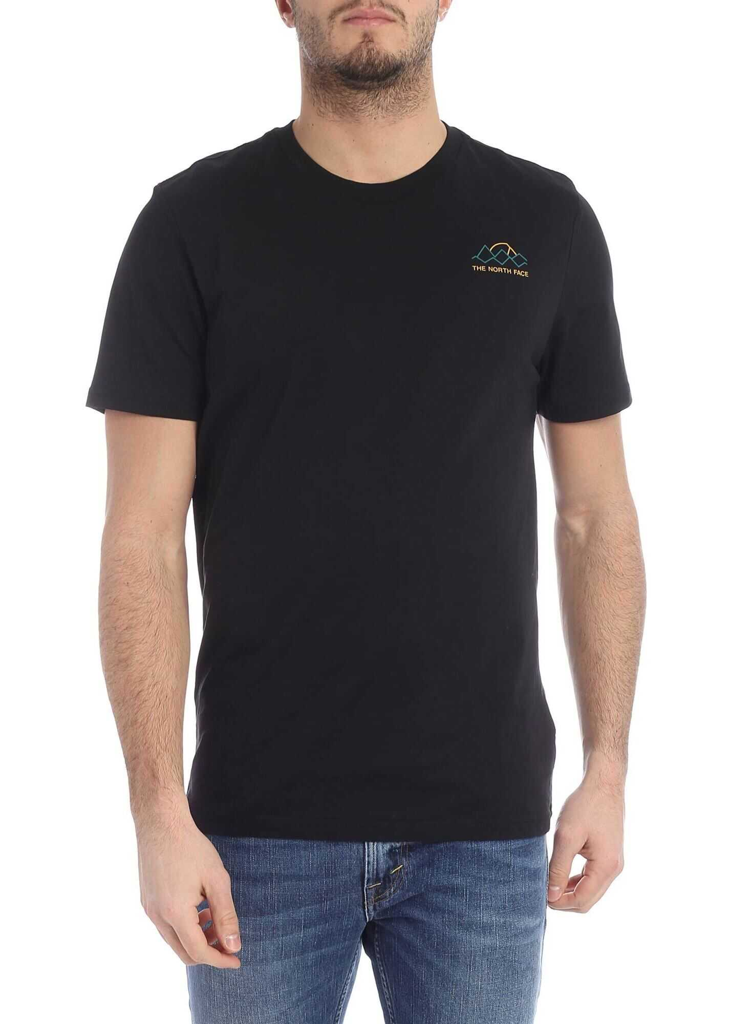 Black T-Shirt With The North Face Logo
