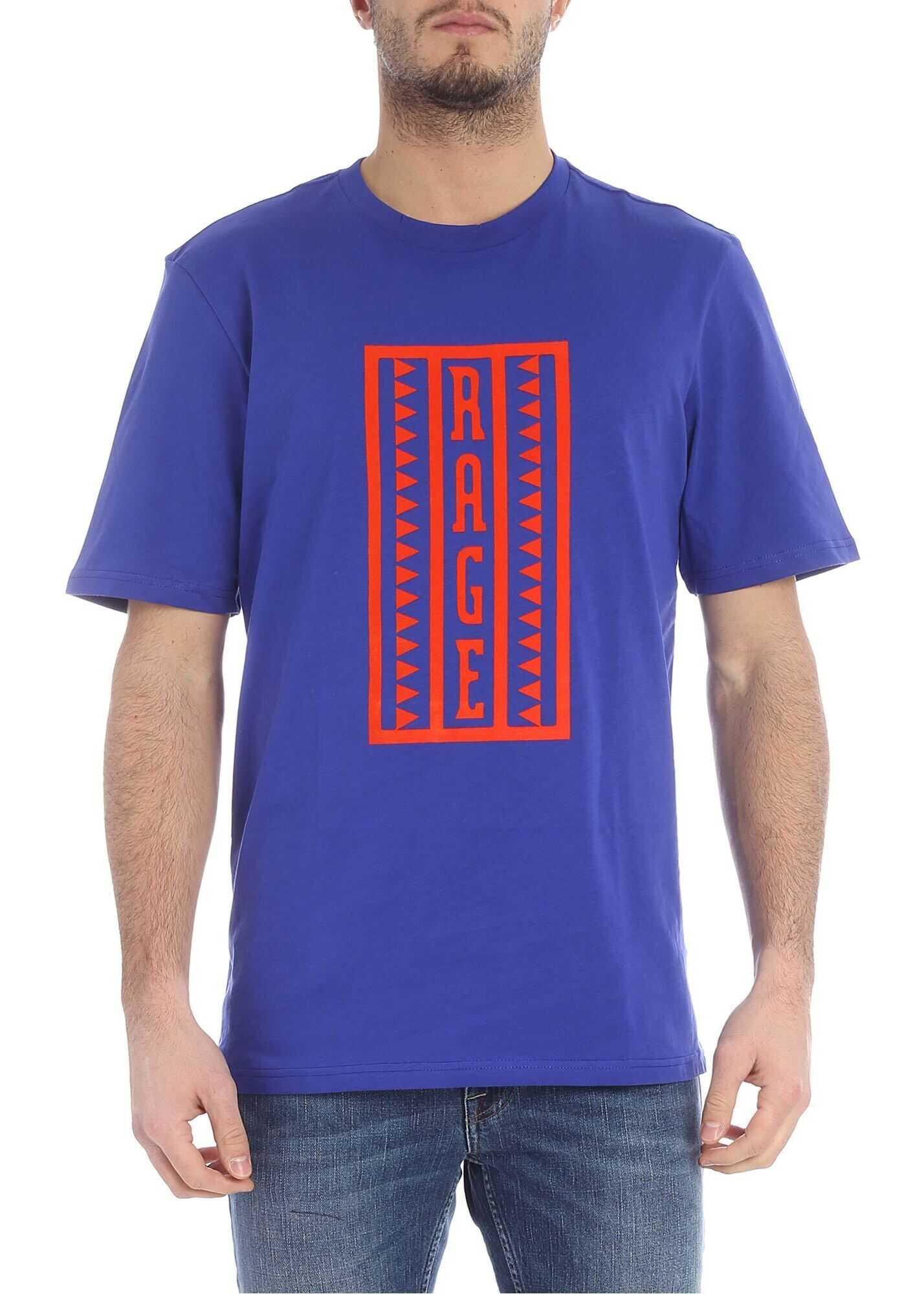 Rage Blue Cotton T-Shirt