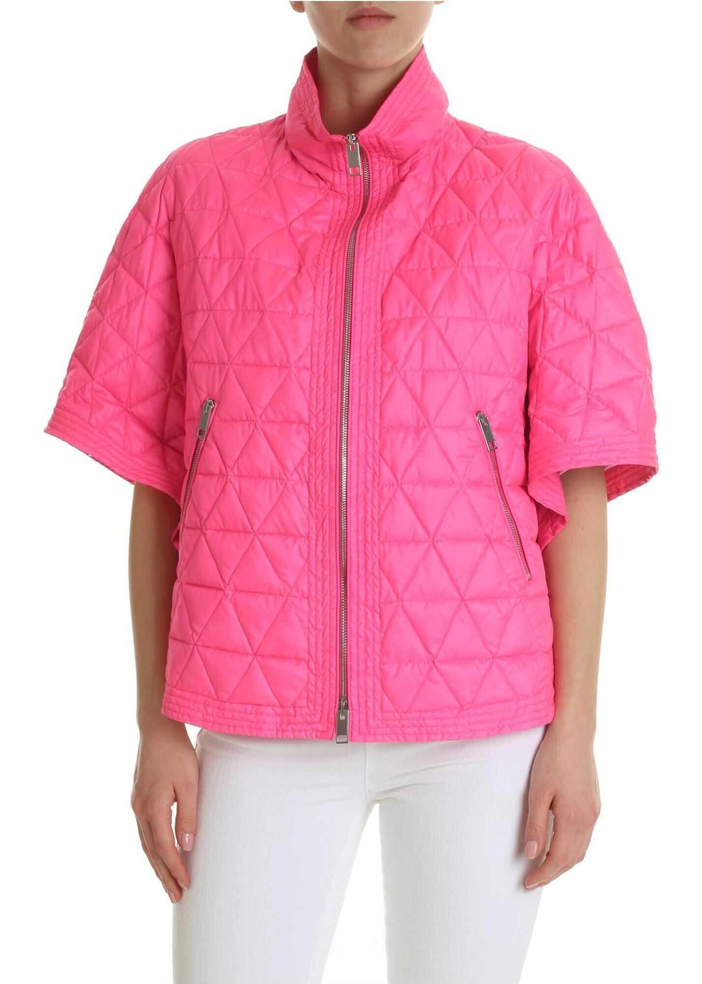 Ermanno Scervino Neon Pink Cape Scervino Pink