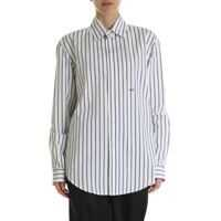 Camasi Off-White Black And White Striped Cotton Shirt